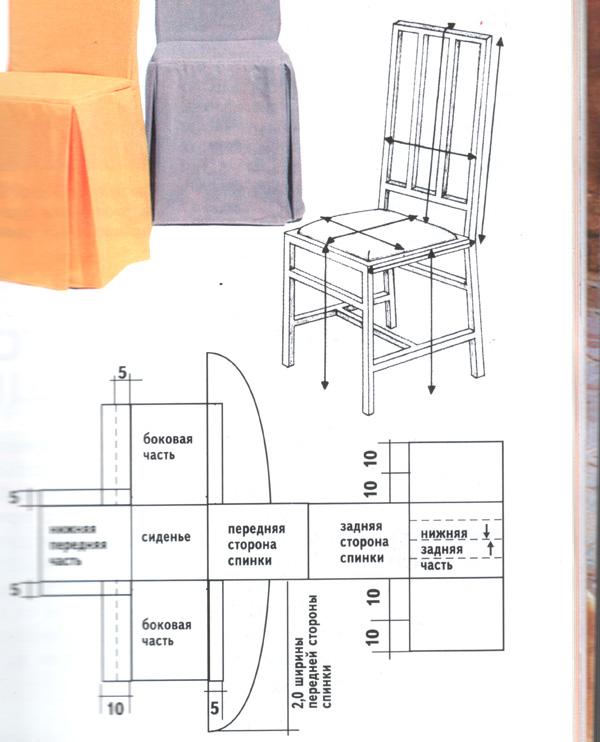 Как сшить чехол на табуретку или стул?