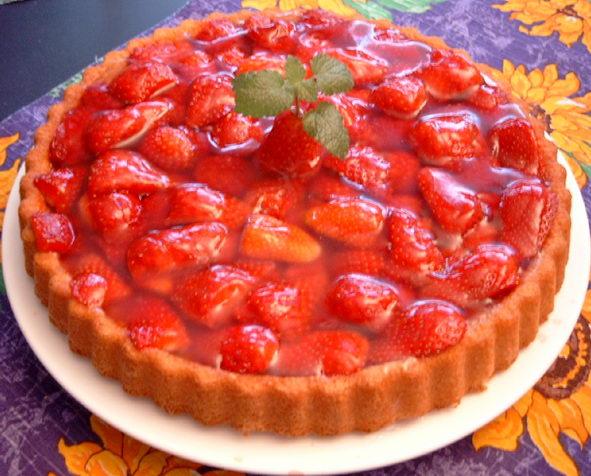 Рецепт полуничного пирога
